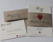Soaring Paper Heart Eco-Friendly Wedding Invitation Suite Sample