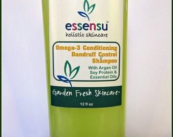 Salicylic Acid Flaky Dry Scalp Argan Oil Omega-3 Conditioning Clarifying Shampoo | Suitable for Oily Hair , Itchy Scalp | Vegan - 12 oz