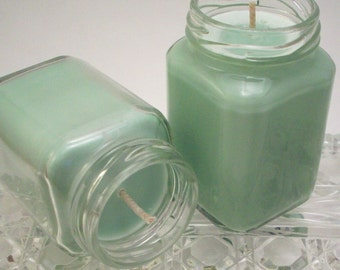 Green Peppermint Eucalyptus Candle - Essential Oil Scented Motivation  Aromatherapy - Mint Decor - 3.75 Ounces - 25-30 Hour Burn Time