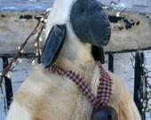 Primitive Folk Art Spring and Easter Shabby Sheep Medium Size