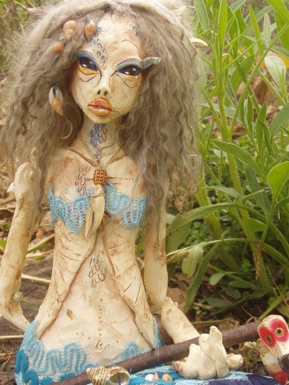 Reserved for Nikki.  Thank you. Fresh Water Nymph.. Limited Time Sale..ooak art dol