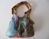 Hand painted bag, original painting on silk, art to wear, boxing day sale