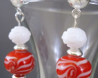 Peppermint Swirl Earrings