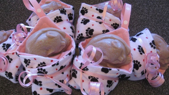 Kitty Cat Soap and Pink Washcloth Sets