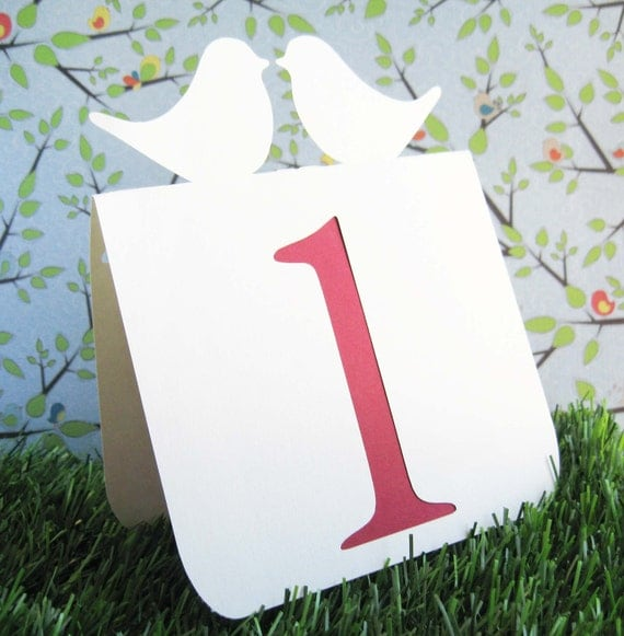 Love bird Table Numbers Set of 1 to 25, wedding table numbers, love bird wedding, wedding table decor