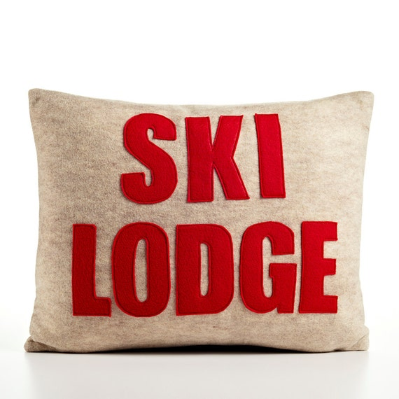 Throw Pillows Meaning : Throw Pillow Decorative Pillow Ski Lodge pillow