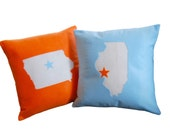 State of Affairs, CUSTOM Pillow-- Perfect Gift for College Students, Graduation, Newlyweds, and the State Pride Fanatics
