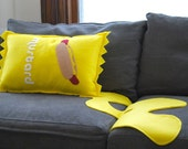 Mustard  Pillow and Spill-- Perfect for Boyfriends, Foodies and Kids