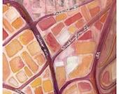 Boston South End/Lower Roxbury Map print FREE SHIPPING