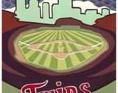 Target Field Minnesota Twins print