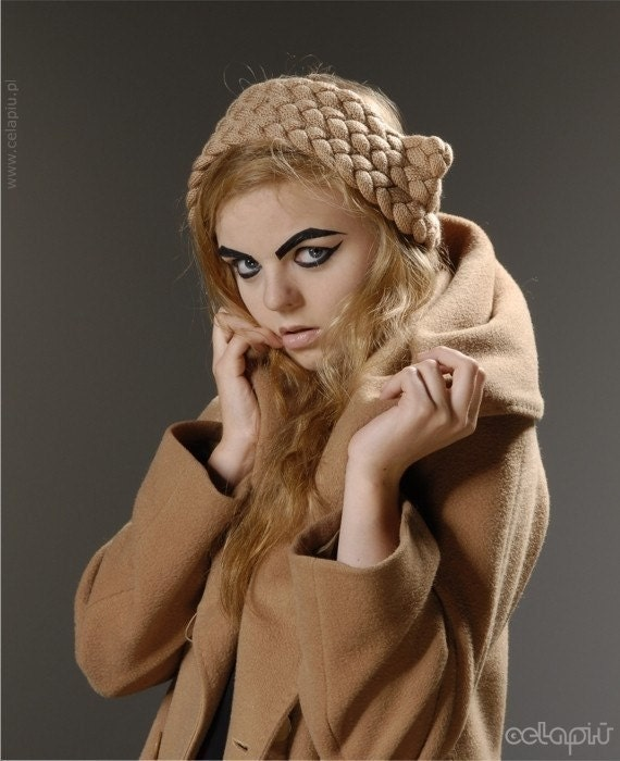 RESERVED for Rebecca - Braided Ears in Camel