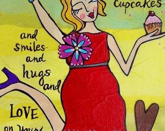 Greeting Card : Birthday Cupcakes #121-C