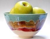 Serving Bowl - handmade  ceramic bowl  turquoise bowl