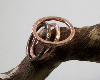 3 Copper Stackable Rings