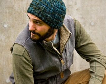 Men's Hat Knitted Wool Camping - Ready to Ship