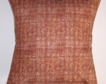 """Throw Pillow Cover, Handmade Autumn Rust Accent Pillow Cover, Decorative Cushion Cover, Nature's Weave Rusty Orange Pillow Cover, 16x16"""""""