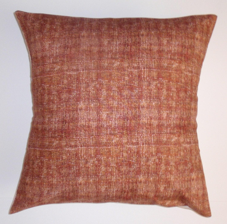 Throw Pillows Horchow : Throw Pillow Cover Handmade Autumn Rust Accent Pillow Cover