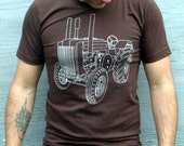 Tractor Tshirt - Mens Tshirt   Tshirt for Men - John Deere Tractor - Screenprinted Graphic Tee for Men - Gift for Him - Holiday Gift Guide