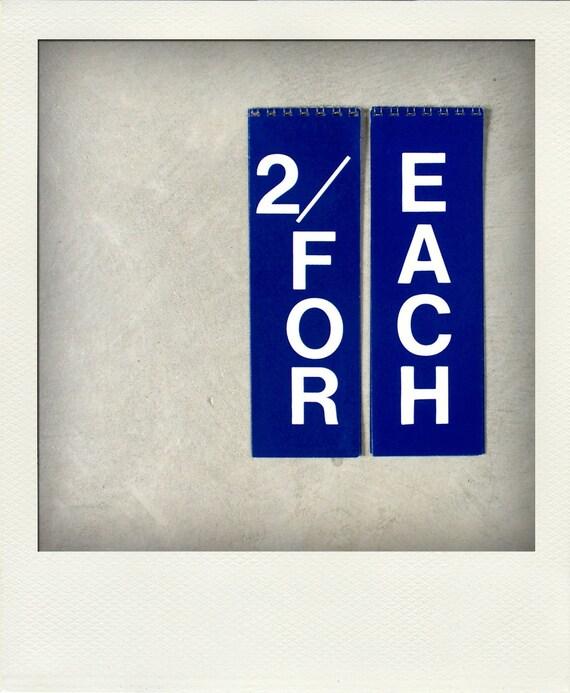 SALE 25% - Vintage Old Stock General Store Flip Signs - Set of 2