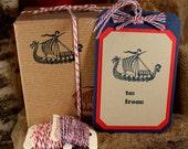 VIKING SHIP - wood mounted rubber stamp (mcrs 01-02)