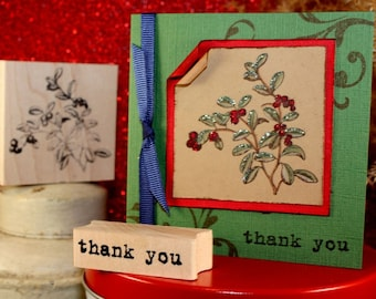 LINGONBERRIES Rubber Stamp~Cranberry Bush Stamp~Scandinavian Design Wood Mounted Rubber Stamps (02-01)