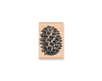 PINE CONE - Wood Mounted Rubber Stamp (mcrs 11-12)