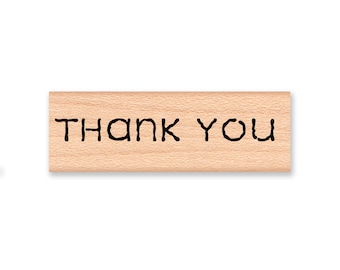 THANK YOU - Wood Mounted Rubber Stamp (mcrs 09-11)