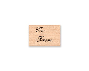to from Rubber Stamp~Pretty Script Font~Small Tag DIY Crafts~ wood mounted rubber stamp (13-46)