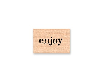 enjoy RUBBER STAMP enjoy favor stamp baked goods fund raiser thank you rustic wedding favour guest tags craft fair homemade (14-14)(35-01)