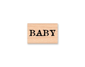 BABY Rubber Stamp~Baby Word~Baby Shower~Announcement~New Born~ Wood Mounted Rubber Stamp(14-37)