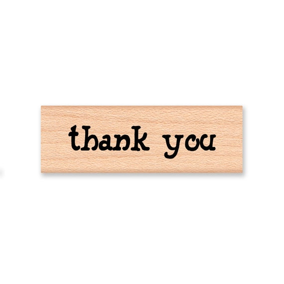 THANK YOU - Wood Mounted Rubber Stamp (mcrs 09-13)