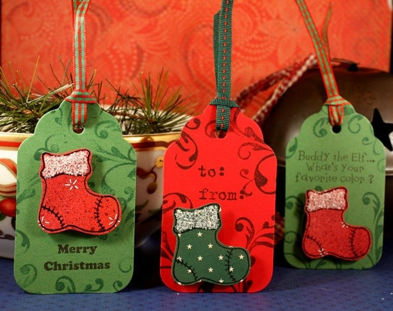 CHRISTMAS STOCKING - wood mounted rubber stamp (mcrs 05-13)
