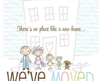 New Home Announcement - DIGITAL FILE ONLY - print options available