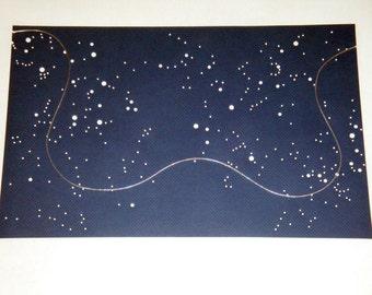 CUSTOM Framed Halley's Comet 1986 Flight Path - Stargazer Science Geekery - Future Astronaut - Handmade by Dorana