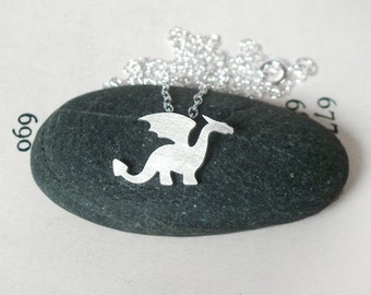 Dragon Necklace In Sterling Silver, Original Dragon Design, Handmade In The UK By Huiyi Tan