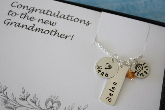 Grandma Necklace, Personalize Necklace, Mother's Day Card