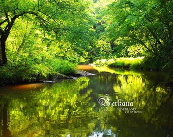 Looking Glass Waters of the Enchanted Forest Fine Art Print Original Dreamy Wonderland perfect for Pixie Fairy Fae Elf Gnome