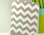 personalized stationery set note cards -chevron stripe (8) CHOOSE color