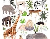 African Animals Print