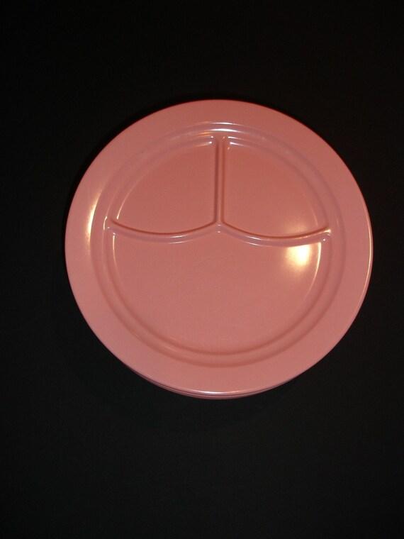 SALE  Vintage Pink Melmac Booton  set o Five Plates
