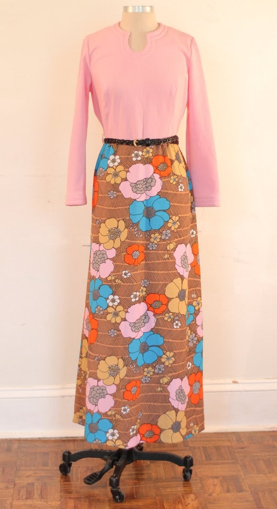 70% OFF SUMMER SALE: Retro Vintage Maxi Dress