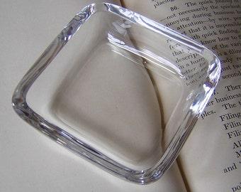 Vintage 1920s Heavy Lead Crystal Individual Dish