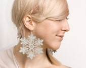 Tigerlily Snowflake large lace earrings