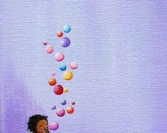 Print of Bubble Girl