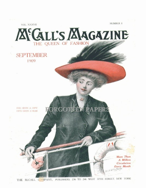 ON SALE - 1909 Issue of McCall's Magazine - Original and COMPLETE