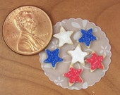 Dollhouse Miniature Loose 4th of July Star Sugar Cookies