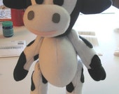 Fleece Cow Stuffie Custom Made to Order