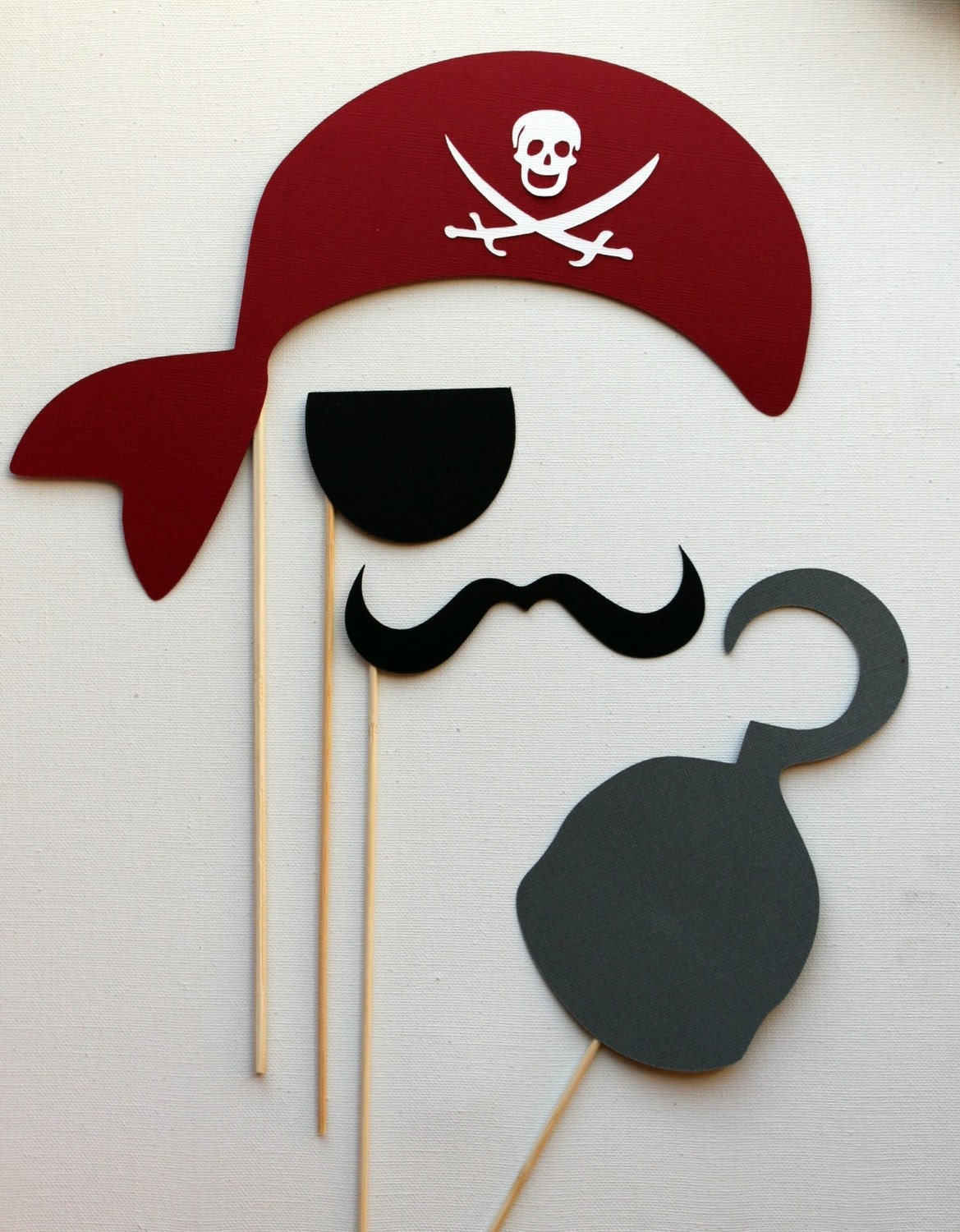 photo booth props pirate photobooth prop kit by littleretreats. Black Bedroom Furniture Sets. Home Design Ideas