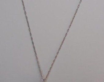 1920's Pale Pink Pearl Cluster Pendant, on a Fine Silver Plated Chain