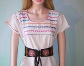 BoHo Blouse Embroidered RainBow Tunic size L / XL BuY 2 GeT 1 FREE SALE on all Vintage